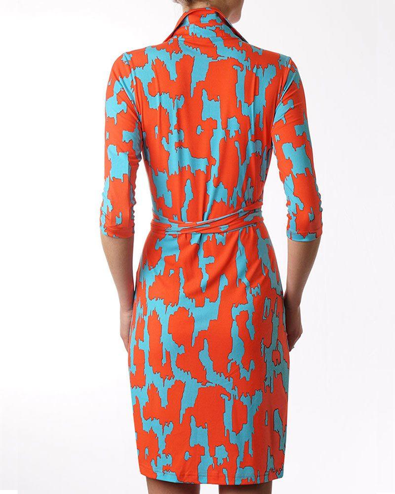 Tangerine Dream Wrap Dress
